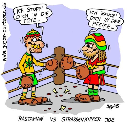 Rastaman cartoon rastaman versus straßenkiffer joe keywords